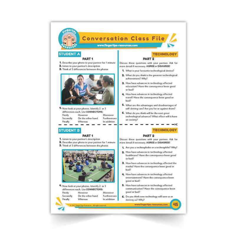 Technology and Computers - Speaking Activity - ESL Conversation Class - www.fingertips-resources.com45