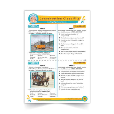 Transport and Vehicles - Speaking Activity - ESL Conversation Class - www.fingertips-resources.com