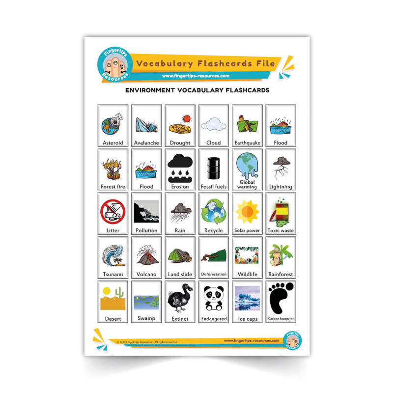 environment - English Vocabulary Flashcards- ESL - www.FingerTips-Resources.com14