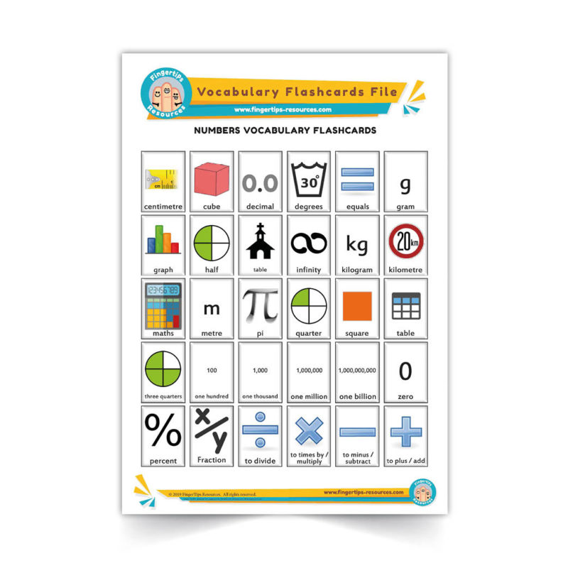 numbers - English Vocabulary Flashcards- ESL - www.FingerTips-Resources.com36