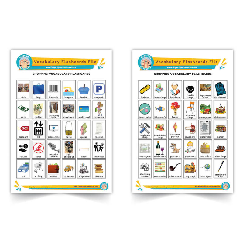 shopping - English Vocabulary Flashcards- ESL - www.FingerTips-Resources.com42