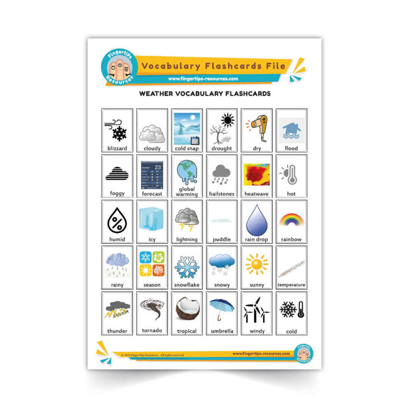 weather - English Vocabulary Flashcards- ESL - www.FingerTips-Resources.com47
